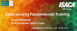 "Formation ""CSX (R) Cybersecurity Fundamentals"" @ Siège ISACA Tunis Chapter"